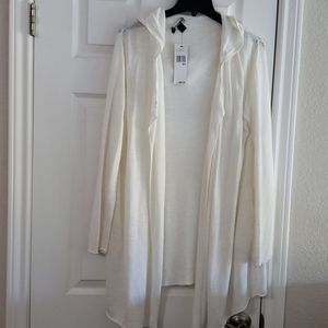 New w Tag DKNY knitted Linen Blended Cardigan